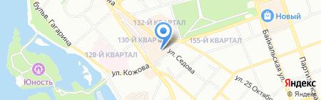 Коктейль Путешествий на карте Иркутска