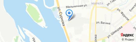 Электросистемы на карте Иркутска
