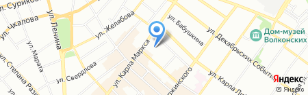 Макси на карте Иркутска