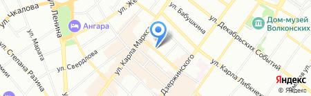 Valensio на карте Иркутска