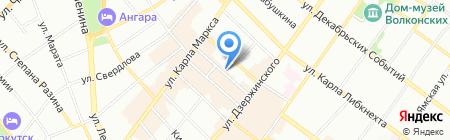 Купидон на карте Иркутска