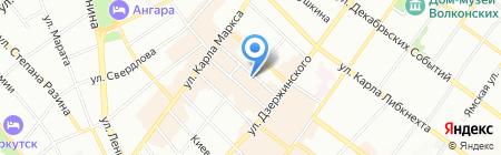Версия на карте Иркутска