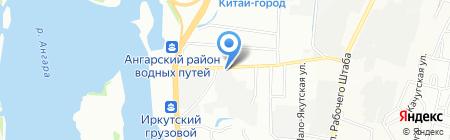 Разливной на карте Иркутска