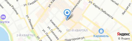 Меха Сибири на карте Иркутска