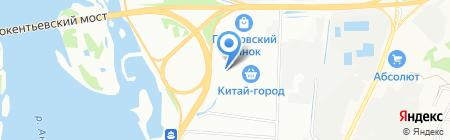 С иголочки на карте Иркутска