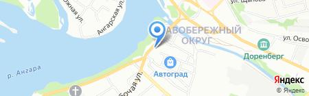 День & Ночь на карте Иркутска