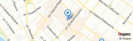 Цирюльня на карте Иркутска