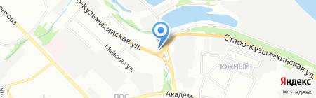 Хонда на карте Иркутска