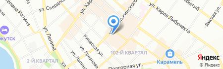 ДЖИ ЭН на карте Иркутска