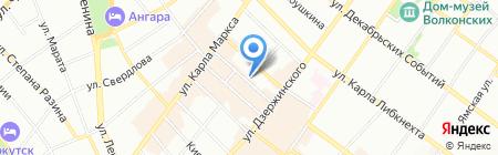 Ажур-Текс на карте Иркутска