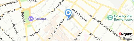 Управление ГИБДД ГУ МВД России по Иркутской области на карте Иркутска