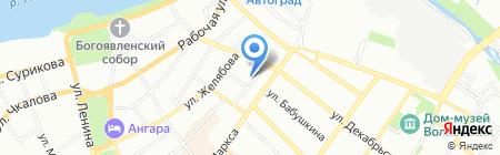 Нотариус Ашлапова О.В. на карте Иркутска