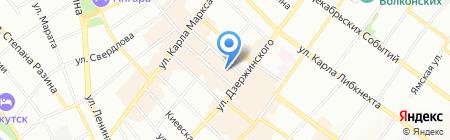 Sela на карте Иркутска