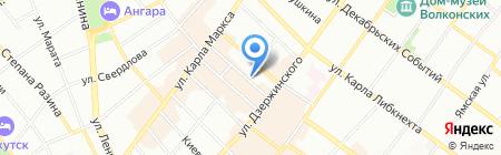 Интэс на карте Иркутска