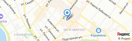 Апельсин на карте Иркутска