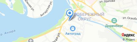 Крепмаркет на карте Иркутска