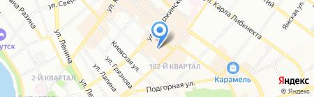 Госпожа С на карте Иркутска