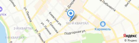 Димира на карте Иркутска