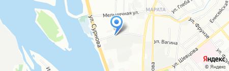 Прокопий на карте Иркутска