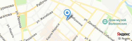 Индола на карте Иркутска