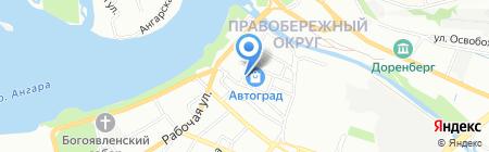 Сибтеплоком на карте Иркутска