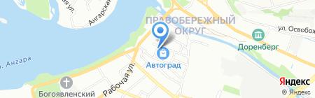 Тепловоз на карте Иркутска