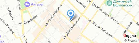 Оперативно-розыскная часть собственной безопасности на карте Иркутска