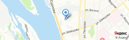 Коттон38 на карте Иркутска