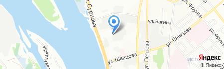 Теплоцентр на карте Иркутска