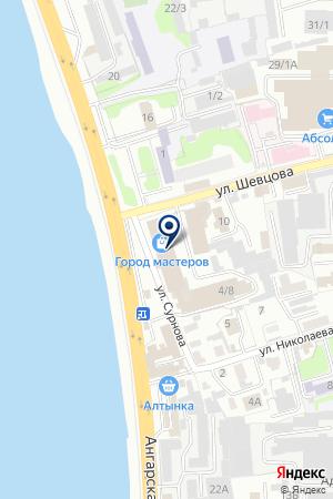 АллегроЗовМебель на карте Иркутска
