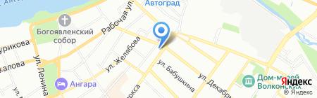 Байкал Интеграция на карте Иркутска