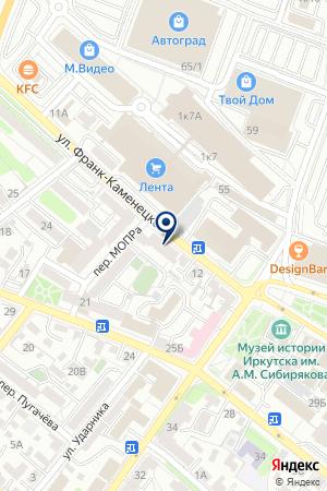 УСОЛЬСКИЙ АКБ ГРИНКОМБАНК на карте Иркутска