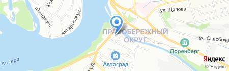 Магазин мясной продукции на карте Иркутска