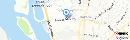 Автостоянка на ул. Сурнова на карте Иркутска