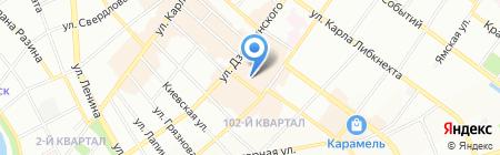 Метелица на карте Иркутска