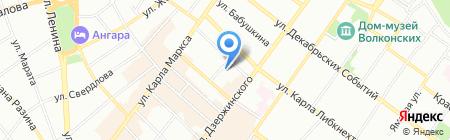 Детский сад №82 на карте Иркутска