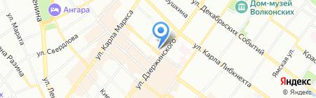 Восток & Запад на карте Иркутска