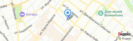 Нотариус Крейденкова О.Н. на карте Иркутска