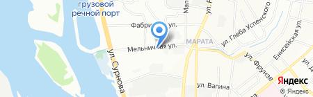 Автосервис на Мельничной на карте Иркутска
