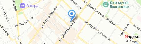 Европейский пенсионный фонд на карте Иркутска