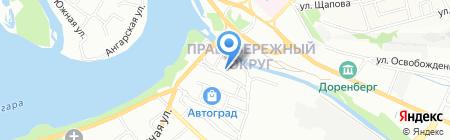 Банкомат Газпромбанк на карте Иркутска