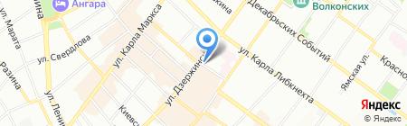 Ронико на карте Иркутска