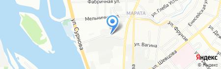 Искусственная хвоя Байкала на карте Иркутска