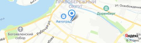 Евротехника на карте Иркутска