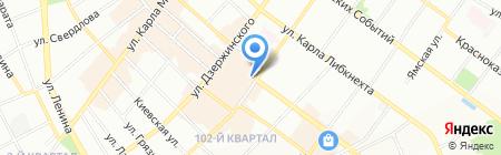 Плацкарт на карте Иркутска