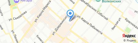 Рапис на карте Иркутска