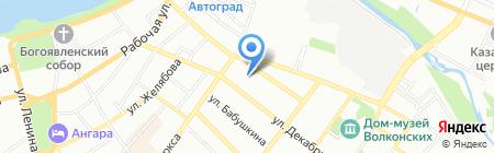 Уютный Дом на карте Иркутска
