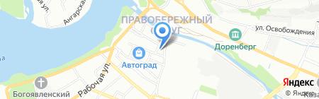 Веселый мельник на карте Иркутска