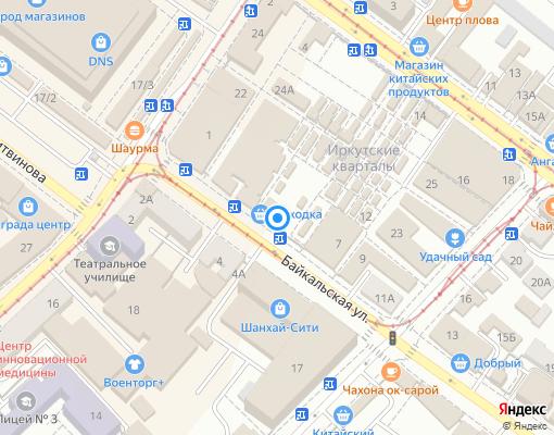 Управляющая компания «Акцепт» на карте Иркутска