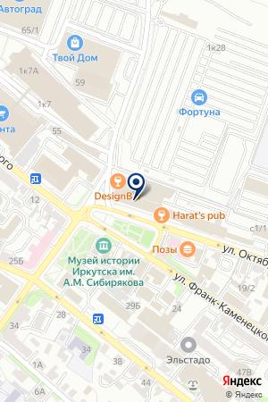 МОТОСАЛОН АЛЬПИНИДУСТРИЯ на карте Иркутска